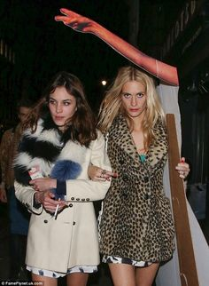 Alexa Chung and Poppy Delevingne
