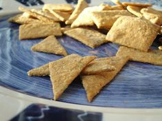 homemade whole wheat cracker and sourdough cracker recipes.  the whole wheat ones taste like Wheat Thins!