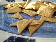 Sourdough crackers.  I top mine with Costco's no salt seasoning, sea salt and nutritional yeast. So good!