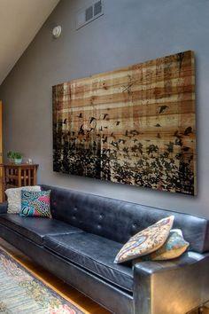 Aspen Brown Distressed Wood Wall Art by Parvez Taj on @HauteLook