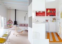 <p>Smells like summer, I just stumble on the work of interior designer Alexandra Angle and this bright and colorful Fire Island beach house that she wonderfully decorated. Alexandra and Eliot Angle, f