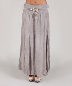 Look at this Mole Linen Maxi Skirt on #zulily today!