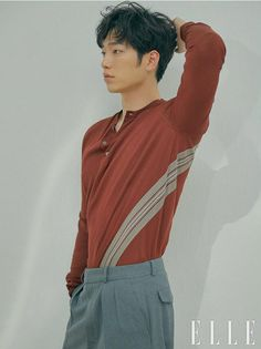"""South Korean actor Seo Kang Joon shares his thoughts on playing an AI robot in the upcoming pre-produced drama """"Are You Human Too?"""" in his interview with Elle Korea. Seo Kang Jun, Seo Joon, Leeteuk, Cute Korean, Korean Men, Asian Actors, Korean Actors, Korean Idols, Korean Dramas"""