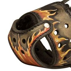 Hand #painted #leather #muzzle for large dogs like #Cane#Corso $79.90