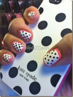 Kate Spade iPhone Nail Art