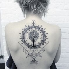 Tree of Life Tattoo by Andy Ma treeoflife treeoflifetattoo blackwork blackworktattoo blackworktattoos contemporary…