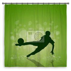 Green Field Soccer Shower Curtain At Http://www.visionbedding.com/