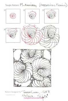 New Drawing Doodles Zentangle Patterns Inspiration 41 Ideas Doodles Zentangles, Tangle Doodle, Tangle Art, Zentangle Drawings, Doodle Drawings, Doodle Art, Mandala Drawing, Zen Doodle Patterns, Zentangle Patterns