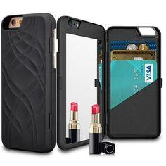 Wallet + Mirror iPhone Case (Black) - SheerGlam Cases & Accessories  - 1