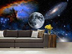 Galaxy wall mural wall mural stars nebula wall by 4KdesignWall