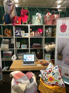 Our Booth @ Cottage Life Show 2017, Toronto. wayuu bags, mexican plastic totes, Turkish towels, round towels, net bags, mochila. summerforever.ca, summer forever.