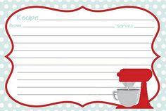 Recipe printable More Homemade Recipe Books, Family Recipe Book, Recipe Scrapbook, Printable Recipe Cards, Recipe Binders, Recipe Organization, Vintage Recipes, Christmas Printables, Digital Scrapbooking