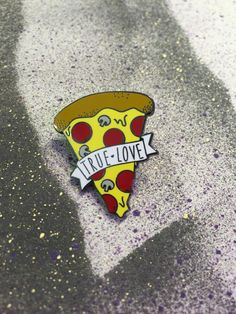 Pizza Love Enamel Pin - Pinterest: Hamza│₪ The Land of Joy