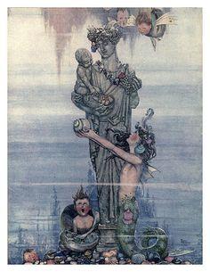 014-La sirenita-Hans Andersen's fairy tales (1913)- William Heath Robinson