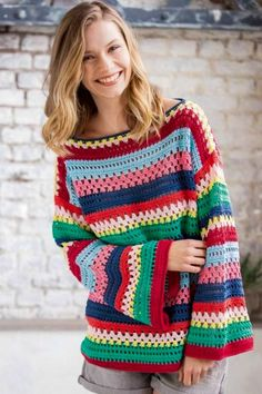 Free and Crochet Sweater Pattern For This Winter 2020 Part 27 ; knitting sweaters for women; knitting sweaters for beginners Beau Crochet, Pull Crochet, Crochet Diy, Crochet Woman, Cardigan Au Crochet, Sweater Knitting Patterns, Knitting Designs, Knitting Sweaters, Free Knitting