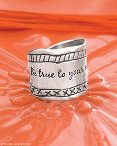 """""""Be True"""" Statement Ring   Jewelry by Silpada Designs www.mysilpada.com/martha.grimm"""
