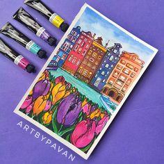 Amsterdam Art, St G, Insta Posts, Gouache, Painting, Instagram, Painting Art, Paintings, Painted Canvas
