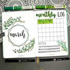 Get your bullet journal ready for March with creative page ideas. I recently created a post about March Cover Pages and now this is a roundup of monthly calendar spreads you can add to your bullet journal. Bullet Journal Index, Bullet Journal Cover Ideas, March Bullet Journal, Bullet Journal Monthly Spread, Bullet Journal Layout, Bullet Journal Inspiration, Journal Pages, Bullet Journals, Filofax