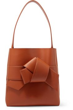 Acne Studios | Musubi large knotted leather shoulder bag | NET-A-PORTER.COM