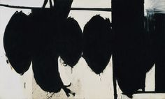 Elegy to the Spanish Republic, 70, 1961 Robert Motherwell (American, 1915–1991) Oil on canvas; 69 x 114 in. (175.3 x 289.6 cm) Met.