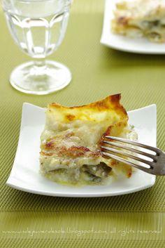 Lasagne ai carciofi, burrata e pecorino (recipe in French and Italian)