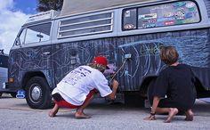 VW Bus Chalkboard
