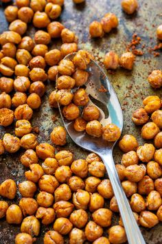 Transform an unsuspecting can of chickpeas into these healthy and easy roasted shawarma chickpeas! They're addictively delicious! Gluten-Free + Vegan