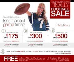 Enjoy Huge Savings with Our 'Finally Football Sale'