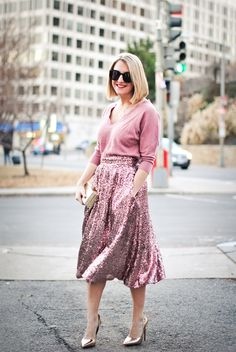I need a sequin skirt like this!!
