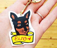 One Custom Made Animal / Pet Shrink Plastic by Rose Hudson