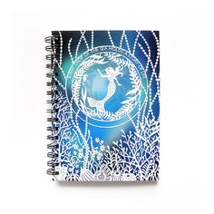 Spiral Notebook  Mermaid  Lined Pages  A5 by SarahTrumbauer