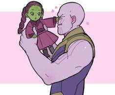 Tiny gamora is cute but I still hope evil purple space-raisin dies a horrible fiery death