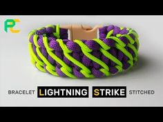 Lightning Strike Stitched Paracord Bracelet - YouTube
