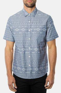 7 Diamonds 'Sun Trials' Short Sleeve Jacquard Sport Shirt available at #Nordstrom