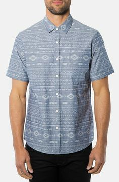 7 Diamonds 'Sun Trials' Short Sleeve Jacquard Sport Shirt available at #Nordstrom