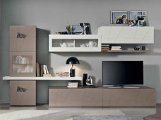 Spar Lapis Modern Italian Wall Unit LX01 made in Italy