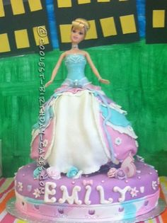 Ultimate Cinderella Surprise Cake... This website is the Pinterest of birthday cake ideas