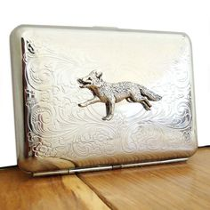 Fox Cigarette Case or Business Card Holder by WildLifeDesignsUK, $42.00