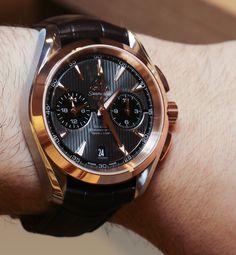 Omega Aqua Terra Chronograph GMT Watch Hands-On Hands-On
