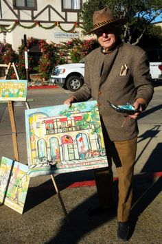 Carmel is well known not only for it's gorgeous natural scenery, but also as a town rich in artistic history. Many times while walking the streets of downtown you can find the artists themselves fast at work, capturing the beauty that surrounds them.