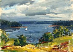John Folinsbee (1892–1972) View of the Cove, Maine