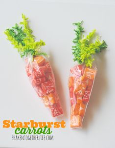 #DIY Easter Basket Idea from @keri bassett {shaken together} | Candy Filled Carrots | Supplies available at Joann.com