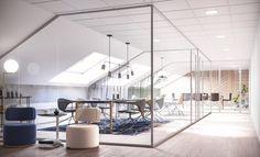 Humlegårdsgatan, extern part of the office, Stockholm, Interior design, Scandinavian design, 3D visualisation, render, archviz, 3Ds Max, modern design, styling