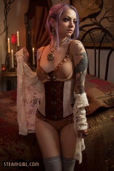 Steamgirl.com   Steampunk and Neo Victorian erotic photography by Kato - Genevieve Tour - Genevieve Tour