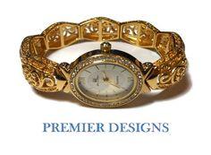 Premier Designs Ladies watch stretch gold by maggiescornerstore