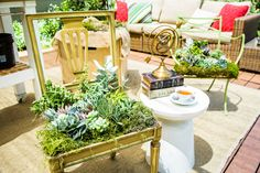 This DIY Living Succulent Chair created by @kennethwingard is a fabulous addition to your outdoor decor! For more DIY's watch Home & Family weekdays at 10a/9c on Hallmark Channel!