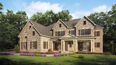Craftsman European Traditional House Plan 58256