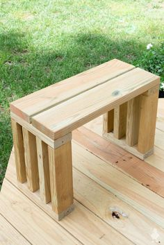 DIY Outdoor Bench Seat Add a little extra seating with this simple outdoor bench made from scrap and deck boards. I built it in one night using nothing but leftover lumber. The post DIY Outdoor Bench Seat appeared first on Woodworking Diy. Deck Bench Seating, Diy Bench Seat, Porch Bench, Extra Seating, 2x4 Bench, Woodworking Plans, Woodworking Projects, Wood Projects, Woodworking Furniture