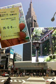 도쿄메트로 1일자유이용권을 들고 신쥬쿠역에서...20130608..아이폰촬영