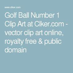 Golf Ball Number 1 Clip Art at Clker.com - vector clip art online, royalty free & public domain